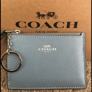 💕💕 Coach Leather Card ID Holder Coin Purse